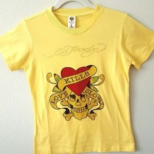 Ed Hardy Rhinestone Love Kills Slowly t-shirt